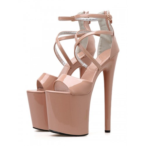 8 Inch High Heel Sexy Sandals Patent Pleaser Heels Stripper Shoes Stripper Shoes Selling Well #12400901990