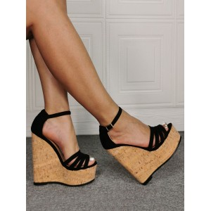 Men Sexy Sandals Black Micro Suede Upper Open Toe Stiletto Heel Sexy Shoes Plus Size Shoes Selling Well #12400936876