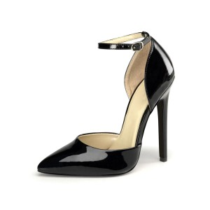 Sexy Sandals For Woman Red Leather Pointed Toe Sequins Ankle Strap Sexy Shoes shopping #12400904428