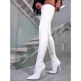 White Sexy Over The Knee Boots Pointed Toe Stiletto Thigh High Boots US size 5.5-12.5 online shopping #12420845642