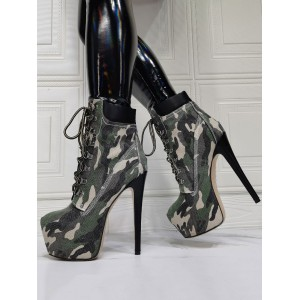 Women Sexy Boots Round Toe Slip-On Stiletto Heel Rave Club Green Thigh High Boots Over The Knee Boots shop online #12420940620
