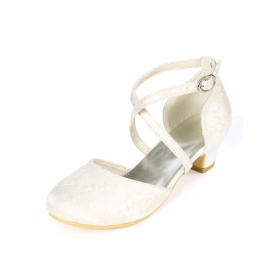 Flower Girl Shoes Ivory Lace Party Shoes For Kids 2021 Trends #08380903028