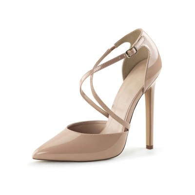 Apricot Sexy Heels Pointed Toe Stiletto Heel Pumps For Women cool designs #12400904426