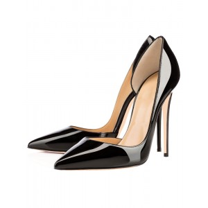 Women Pointed Toe Stiletto High Heels Sexy Basic Dorsay Pumps in Black cool designs #23600614405