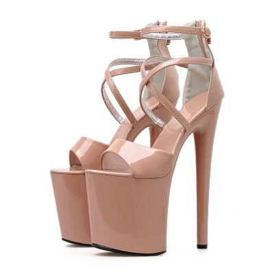 8 Inch High Heel Sexy Sandals Patent Pleaser Heels Stripper Shoes Stripper Shoes on clearance #12400901990
