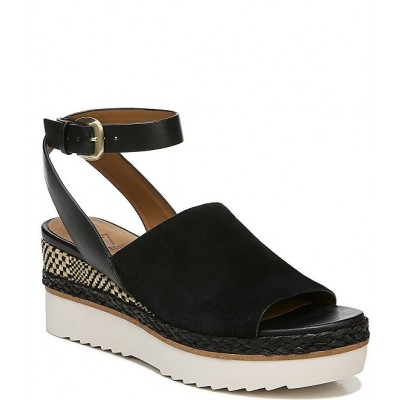 Women 27 EDIT Naturalizer Prestyn Leather and Suede Platform Wedge Sandals Naturalizer on sale near me YPDTOYX
