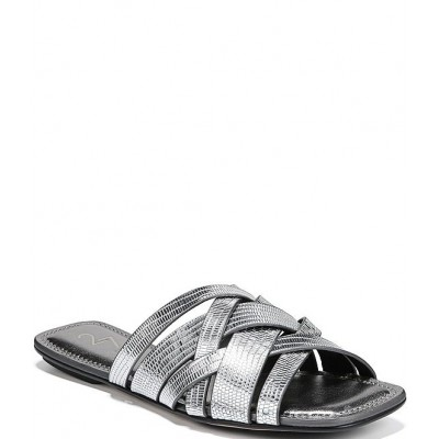 Women 27 EDIT Naturalizer Zoie Square Toe Metallic Lizard Print Leather Banded Sandals Naturalizer online shopping SYGOPJA