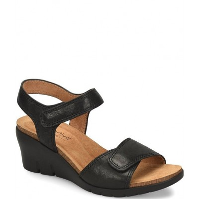 Women Abria Adjustable Leather Wedge Sandals Comfortiva For Sale QETVTGP