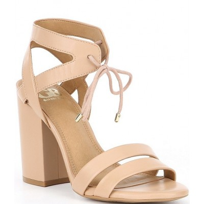 Women After-Hours Strappy Leather Sandals GB QQGVGIO