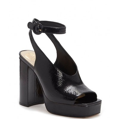 Women Somerson Crinkle Patent Leather Platform Ankle Strap Sandals Vince Camuto good quality ALFQZQF