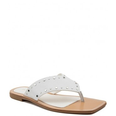 Women Ixina Leather Studded Square Toe Thong Sandals BCBGeneration new look RLRDPRX