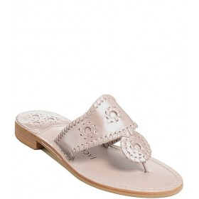 Women Jacks Natural Flat Leather Whipstitch Detail Thong Sandals Jack Rogers FBNONWK