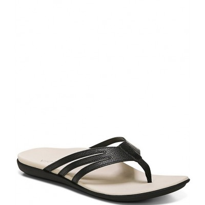 Women Alta Leather Thong Flat Sandals Vionic Fitted TNXRAZD