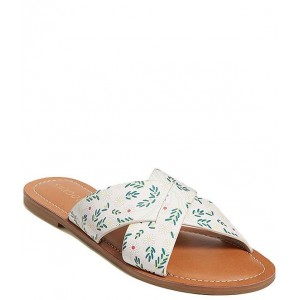 Women Slotted Daisy Print Sloane X Band Leather Slide Sandals Jack Rogers new in KJTOUXH