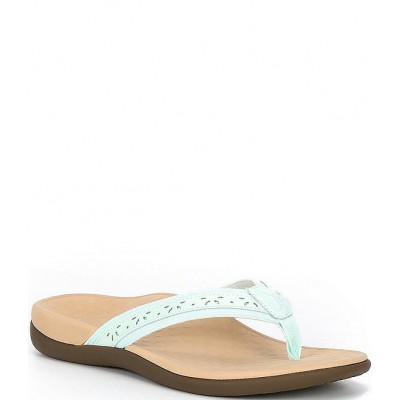 Women Casandra Perforated Leather Thong Sandals Vionic In Store JEUQNFL