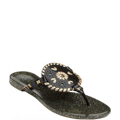 Women Georgica Sparkle Studded Whipstitched Jelly Sandals Jack Rogers Regular DQGYRYH