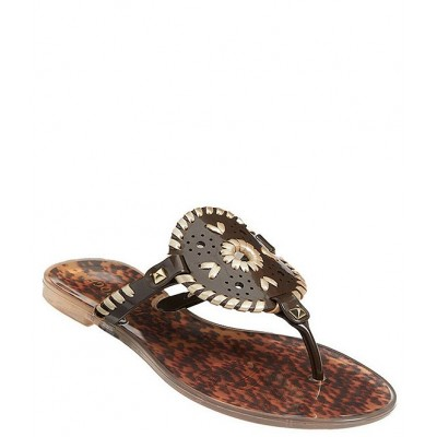 Women Georgica Tortoise Studded Whipstitched Slip-On Jelly Sandals Jack Rogers Trends KLRTHOB