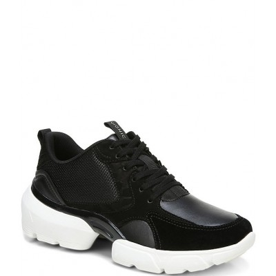 Women Aris Leather Suede Mesh Lace-Up Sneakers Vionic TFSQGBN